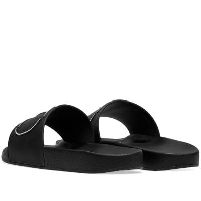 1ac84a84be6c Valentino Go Logo Pool Slide Black   White