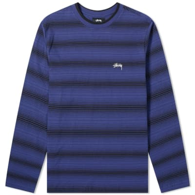 32ac2104e92 Stussy Long Sleeve Ombre Crew Tee ...