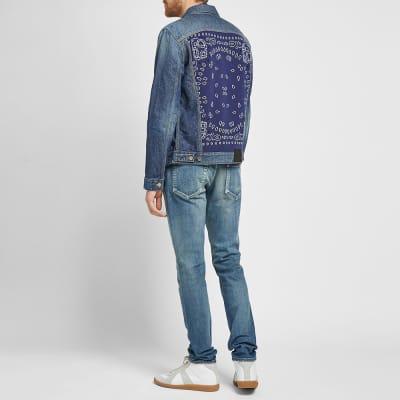 Alanui Bandana Knit Insert Denim Jacket