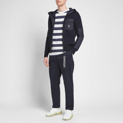 Moncler Grenoble Nylon Hooded Knitted Jacket