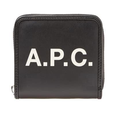 b4a9fda4c6 A.P.C. Morgan Logo Wallet ...