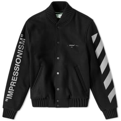 Off-White Green Man Varsity Jacket