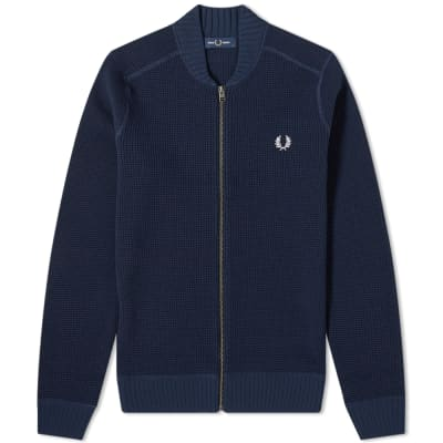 Fred Perry Waffle Zip Cardigan
