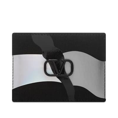 Valentino Reflective Camo Card Holder