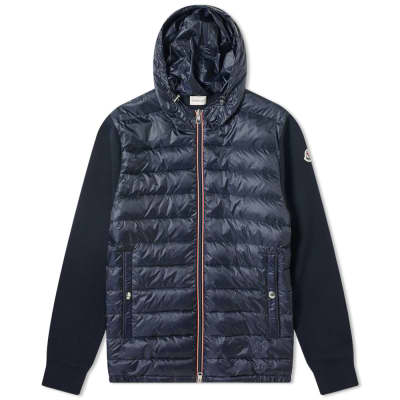 d71844afdbe5 Moncler Hooded Nylon Down Knit ...
