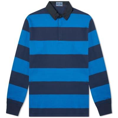 a5a0a4fc29 Blue Blue Japan Bold Stripe Rugby Shirt ...