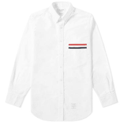 Thom Browne Grosgrain Pocket Button Down Oxford Shirt