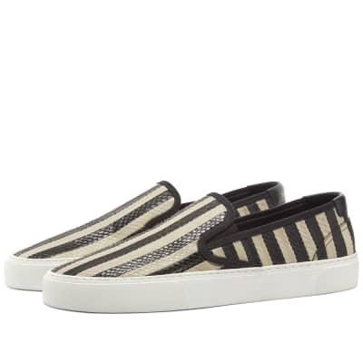 Saint Laurent Venice Slip On Scale Stripe Sneaker