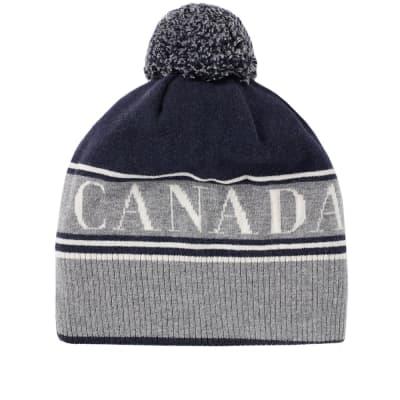 Canada Goose Logo Pom Beanie
