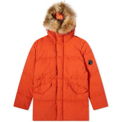 C.P. Company Long Fur Collar Down Parka