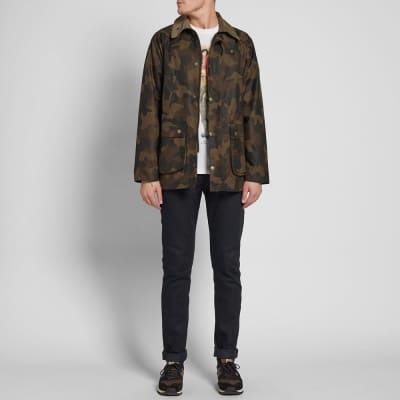 Barbour heritage men's tweed durham wax jacket