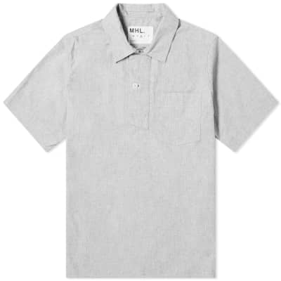 a773452014 MHL. by Margaret Howell Wide Placket Polo Shirt ...