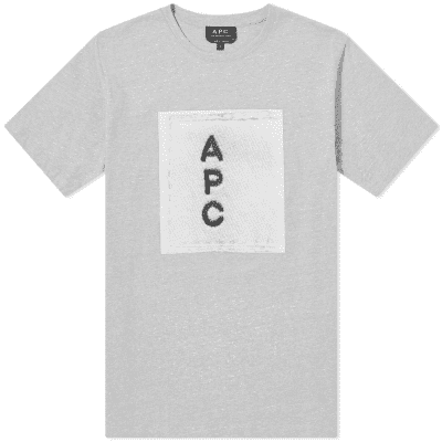 size 40 2d9c4 4b252 A.P.C Logo Tee ...