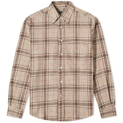 Gitman Vintage Cotton Tweed Check Shirt