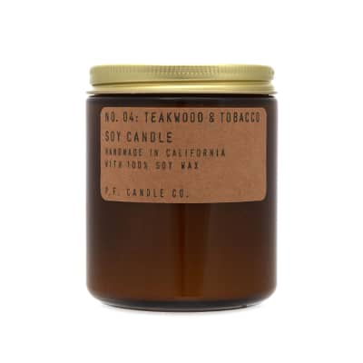P.F. Candle Co No.04 Teakwood & Tobacco Soy Candle
