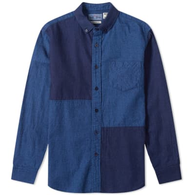 Blue Blue Japan Dyed Flannel Panel Shirt