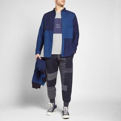 Blue Blue Japan Dyed Flannel Panel Shirt