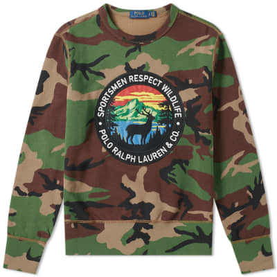 Polo Ralph Lauren Camo Wildlife Crest Sweat ... bc7a4244b6