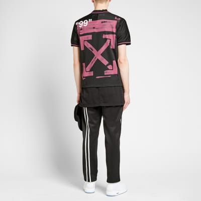 ... Off-White Mesh Diagonals Football Tee 766eeb674c