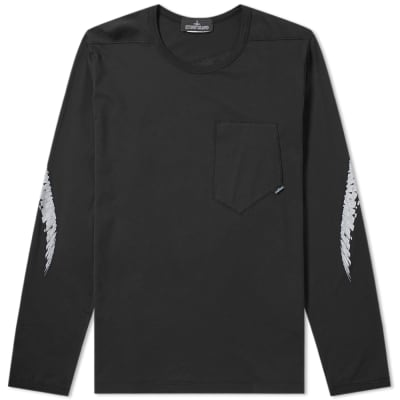 b52fccfd4b888 Stone Island Shadow Project Long Sleeve Back Print CXADO Tee ...