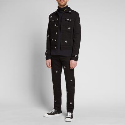 c39bb9f8fa62 ... Dior Homme x KAWS Bee Denim Jacket