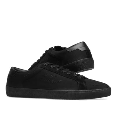bf9afd8804bd ... Saint Laurent SL-06 Embroidered Signature Sneaker