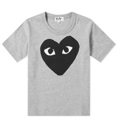 Comme des Garcons Play Kids Black Heart Logo Tee