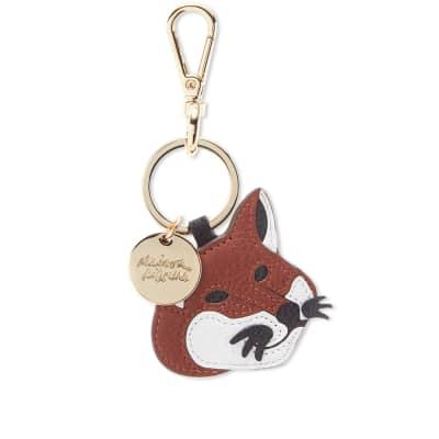 3f412febd045 Maison Kitsuné Leather Fox Head Keyring ...