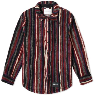 Napa by Martine Rose Stripe Fleece Overshirt