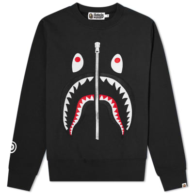 A Bathing Ape Shark Crew Sweat