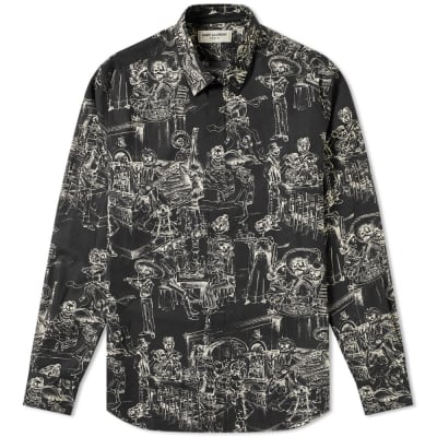 Saint Laurent Day of the Dead Shirt ... 85c75f6fb3b6