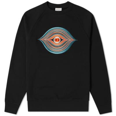 Dries Van Noten Embroidered Eye Crew Sweat