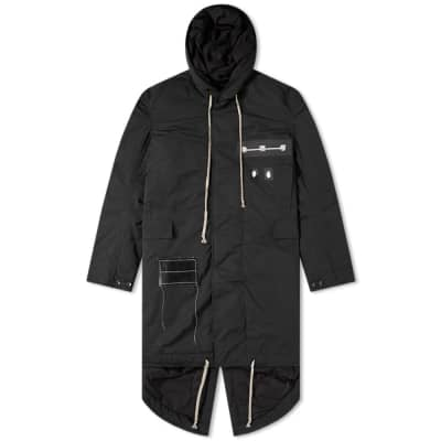 Rick Owens DRKSHDW Fishtail Patch Parka