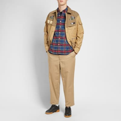 Uniform Experiment Flannel Check Drip Shirt