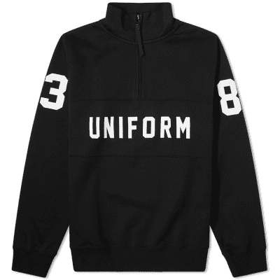 Uniform Experiment Half Zip Numbering Sweat