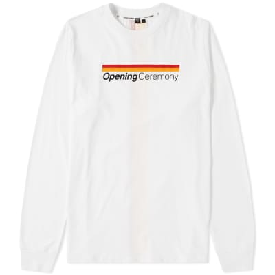 8624df41d7a Opening Ceremony Long Sleeve Stripe Logo Tee ...