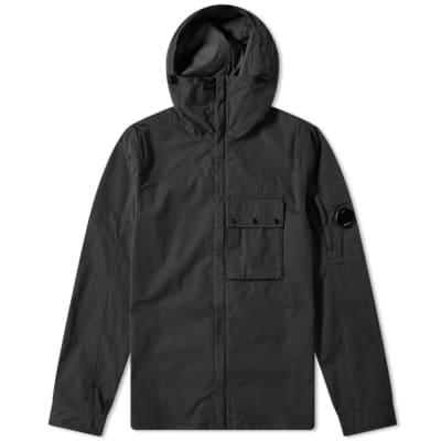 9d5d10f72e80 C.P. Company Hooded Gabardine Arm Lens Zip Shirt Jacket ...