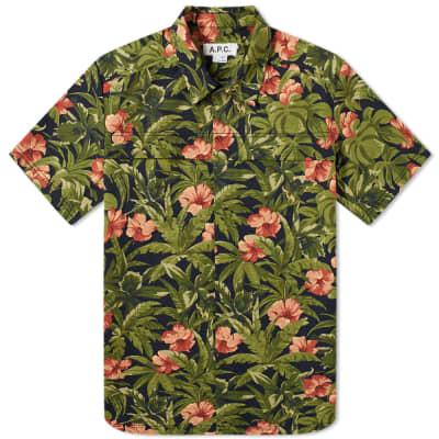 d566216d83 A.P.C. x Michael Kopelman Floral Shirt ...