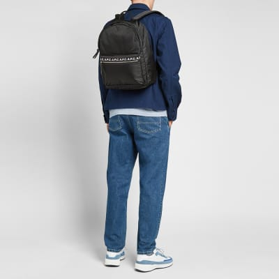 brand new 54b81 b3665 A.P.C. Marc Tape Logo Backpack A.P.C. Marc Tape Logo Backpack