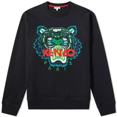 586e99c24ef Kenzo Embroidered Tiger Crew Sweat ...