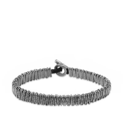 M. Cohen Distressed Silver Barcode Bracelet