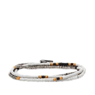 M. Cohen Mini Disc 4 Wrap White Bead Bracelet