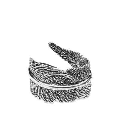 M. Cohen The Feather Sterling Hand Carved Ring