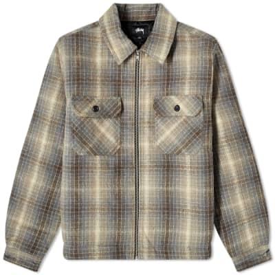 Stussy Heavy Brush Plaid Zip Shirt
