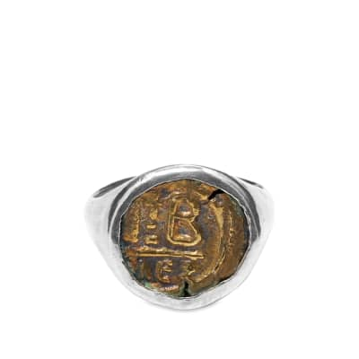 M. Cohen Vintage Brass Coin Ring