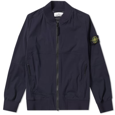 Stone Island Light Soft Shell SI Check Grid Bomber Jacket