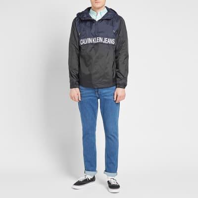 ac738ae7bb ... Calvin Klein Colour Block Nylon Popover Jacket