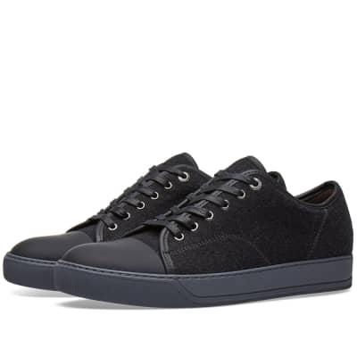 Lanvin Toe Cap Felt Sneaker