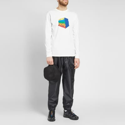 Stussy Long Sleeve Stacked Up Pigment Dyed Tee