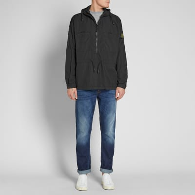 Stone Island Nylon Metal Popover Hooded Shirt Jacket
